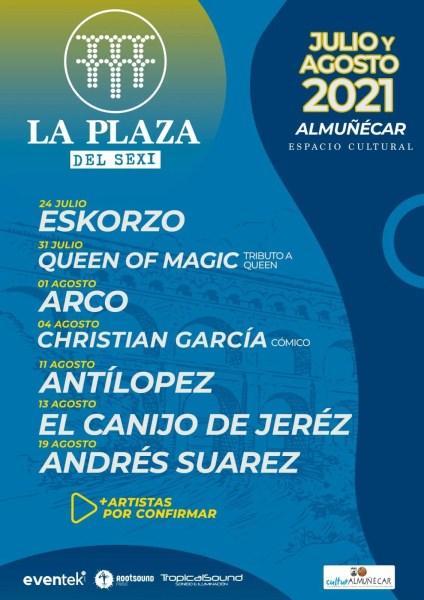 summer concerts almunecar la plaza del sexi