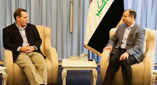 الجبوري يبحث مع السفير الأمريكي تطورات الوضع في محافظة الأنبار وتحرير الفلوجة