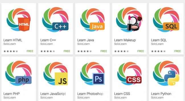 تعلم العديد من لغات البرمجة عبر الأجهزة الذكية