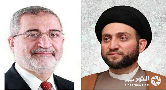 أمين الحزب الاسلامي يهنئ الحكيم بتجديد إنتخابه رئيساً للمجلس الأعلى