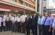 رئيس مجلس محافظة بغداد رياض العضاض يشارك الكوادر الطبية بوقفة احتجاجية لإستنكار جرائم اغتيال الاطباء