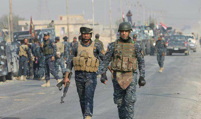 Federal police finish their tasks in Mosul and organize a military parade