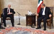 الجعفري يلتقي الرئيس اللبناني ويبحث معه تطوير العلاقات بين البلدين