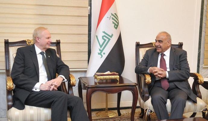 عبد المهدي يرحب بعرض شركة بريطانية لتطوير حقول نفطية في العراق