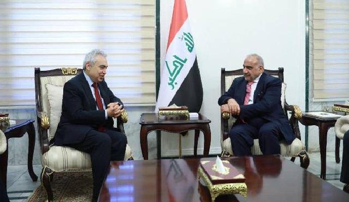 عبد المهدي: برنامج الحكومة يتضمن خططاً لإصلاح الاقتصاد وتطوير الطاقة