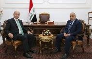 صالح وعبدالمهدي يبحثان المستجدات السياسية والأمنية والتحديات الراهنة