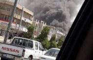 بالصور .. حريق كبير يلتهم مخازن تابعة لوزارة الاتصالات وسط بغداد