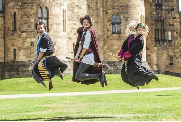 Riding Broomsticks at Alnwick Castle Garden