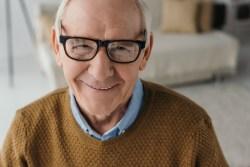Close up of smiling man