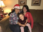My girl with my sister Karla and m sister in law Karen.. Missing her tia Angie
