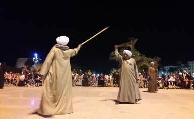 بالصور.. استمرار فاعليات مهرجان التحطيب بساحة أبو الحجاج بالأقصر
