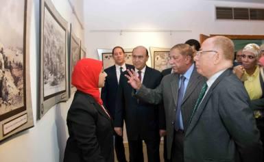 """النمنم ومميش وطاهر فى افتتاح معرض قناة السويس """"تاريخ شعب"""""""