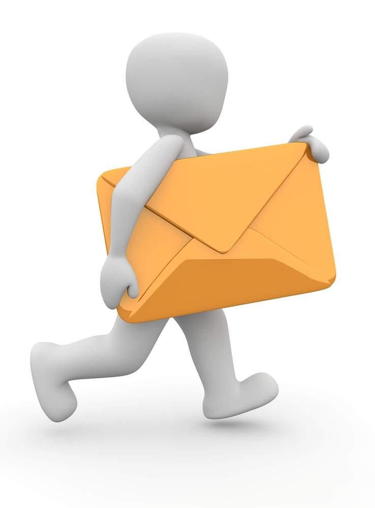 lik koji nosi pismo
