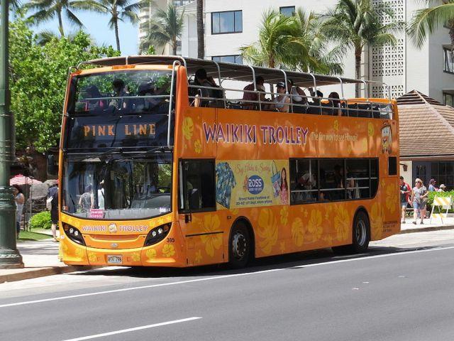ハワイのトロリー(ピンクライン2)
