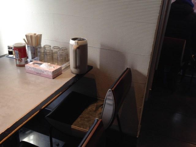函館のラーメン(麺厨房あじさい・テーブル席)