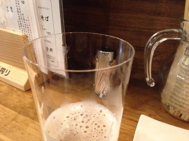 中野の居酒屋(麦酒大学・うすはりグラス)