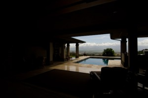 Looking out to the pool area from the entryway, 2850 Kamaile Street, Wailuku, HI 96793