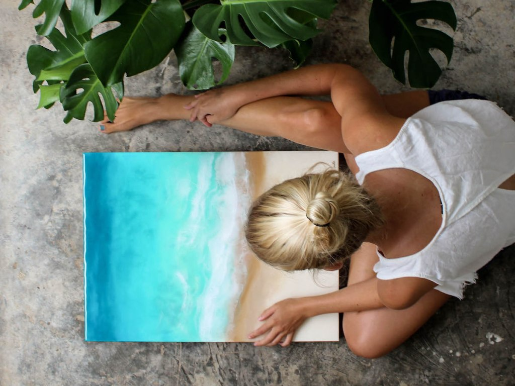 resin painting art