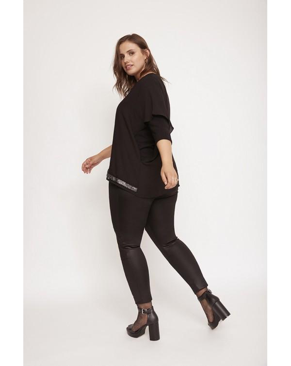 blusa capa negro aloha moda