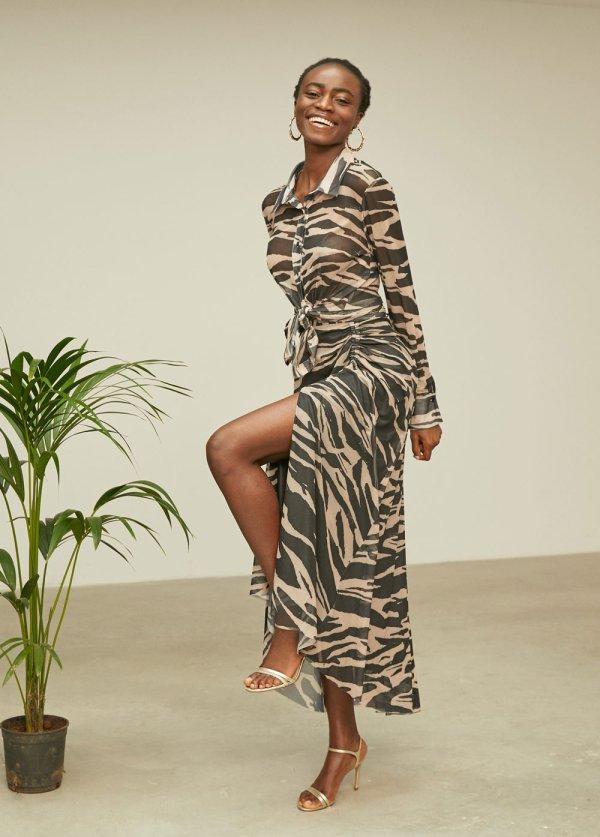 camsa estampada zebra