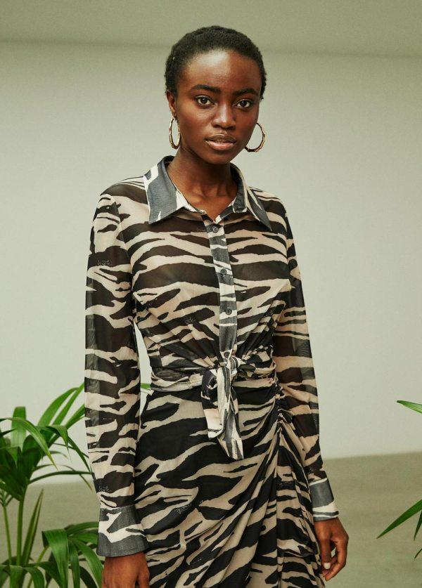 camisa estampada zebra