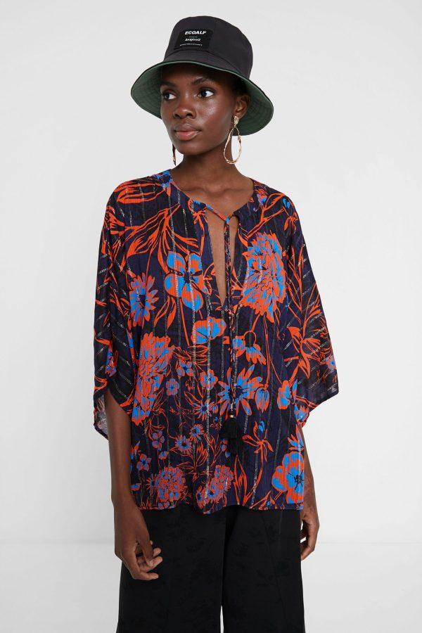 blusa floral desigual