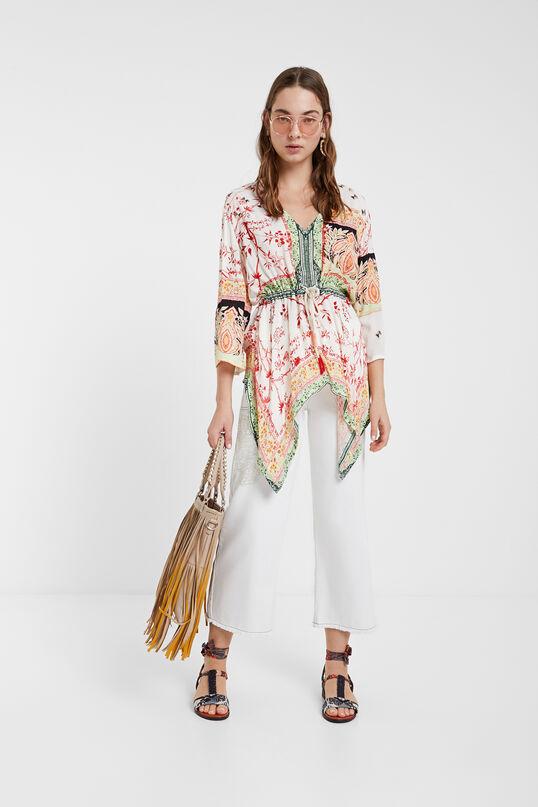 blusa caftan desigual aloha moda