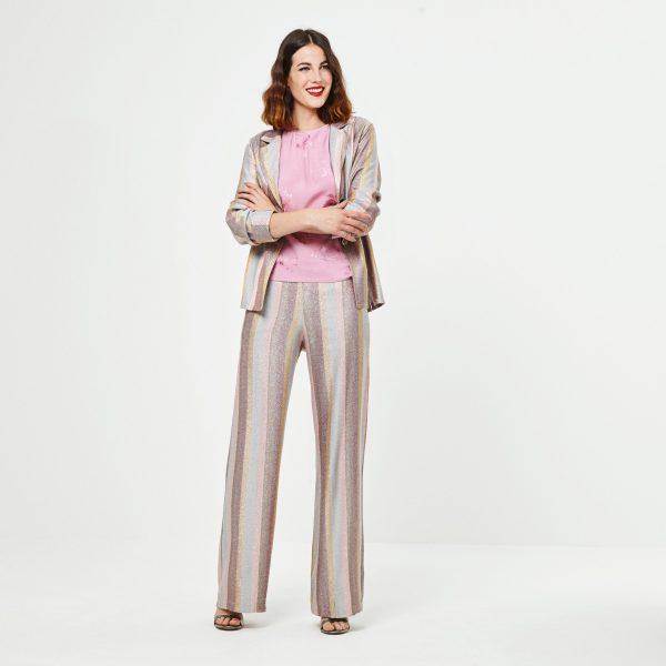 pantalon palazzo lurex