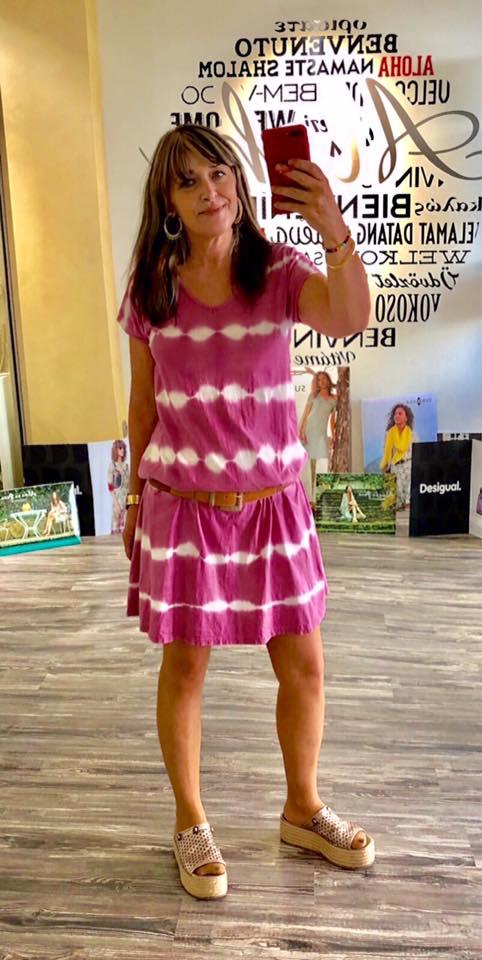 vestido difuminado hippie boho aloha