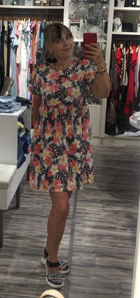 vestido clara estampado corto Aloha