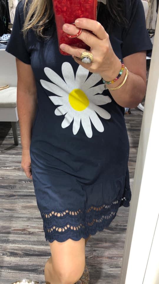 Vestido margarita algodón talla única Aloha.