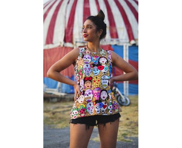 camiseta viva mexico tirantes La Pantera lola