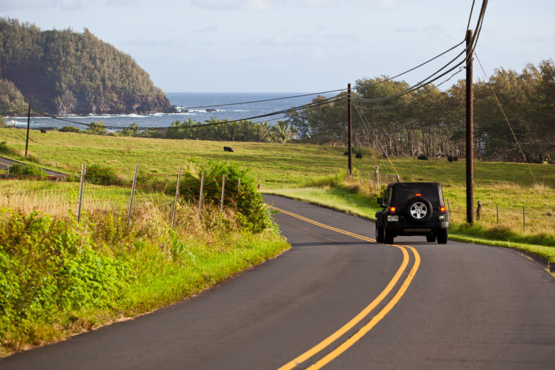 Driving the road to Hana. Photo Credit: Hawaii Tourism Authority/Tor Johnson