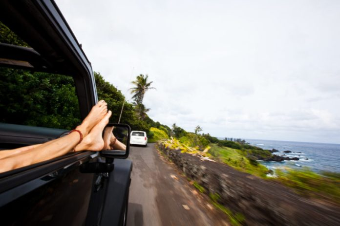 Oahu car rental: Driving along the coast. Hawaii travel. Things to do in Hawaii.