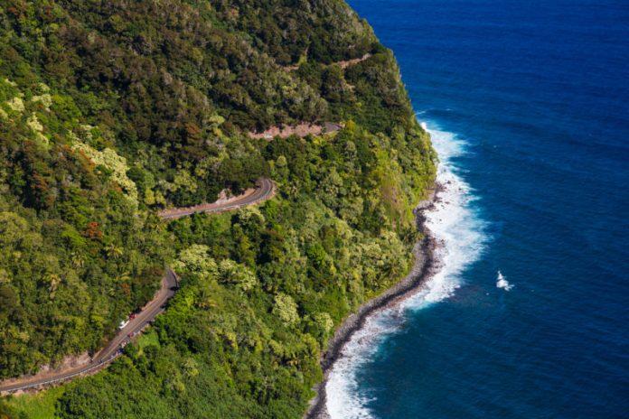 Road to Hana: Curvy Hana Highway. Hawaii travel. Things to do in Maui. Things to do in Hawaii.