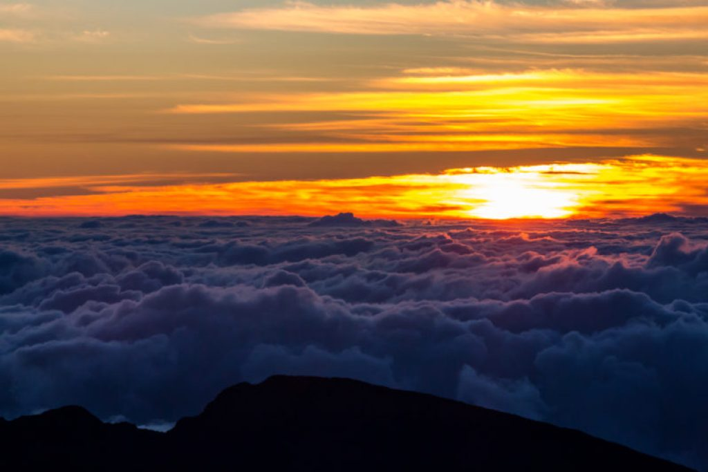 Above the clouds at Haleakala.