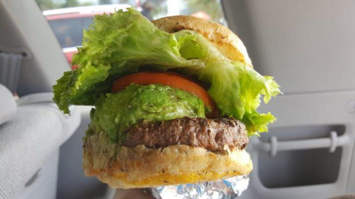 The avocado burger from Kua Aina is onolicious