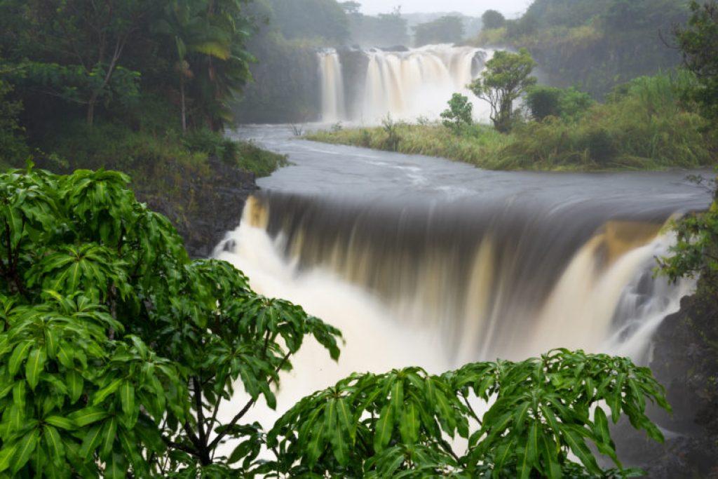 Waterfalls and running water weaken the ground and make Hawaii hiking dangerous.