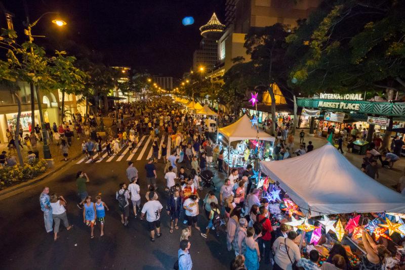 Aloha Festival's Hoolaulea in Waikiki