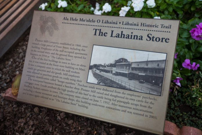 Historical information about Lahaina town.
