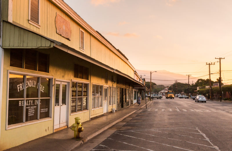 The main town in Molokai.