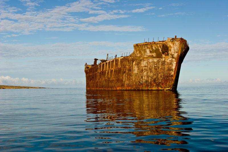 Shipwreck beach in Lanai.