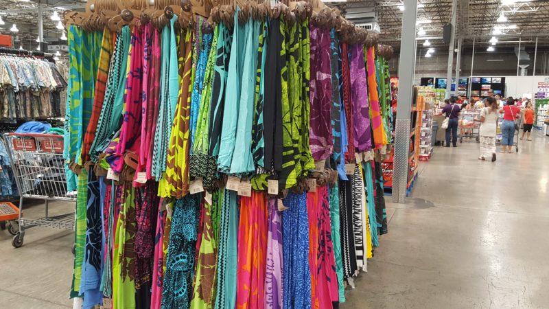 Sarongs with Hawaiian designs