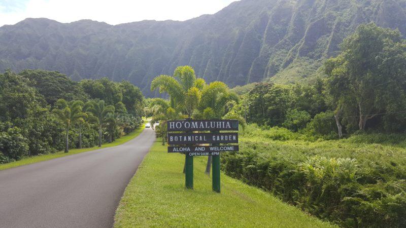 Entrance to Hoomaluhia Botanical Garden