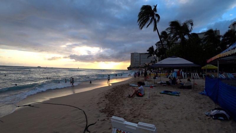 Kahanamoku beach in Waikiki.