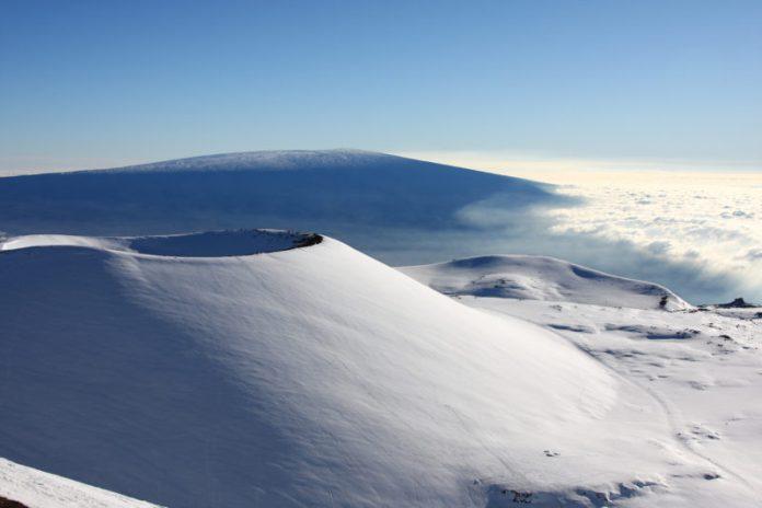 Snow on Mauna Kea