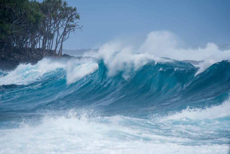 Big waves in Hawaii