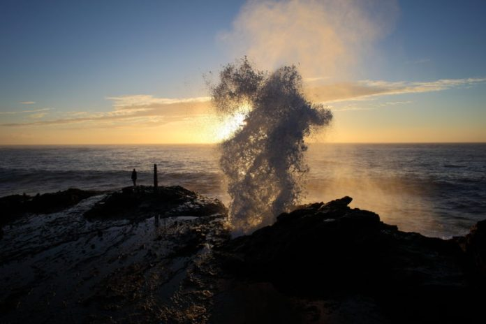 Halona blowhole at sunrise.