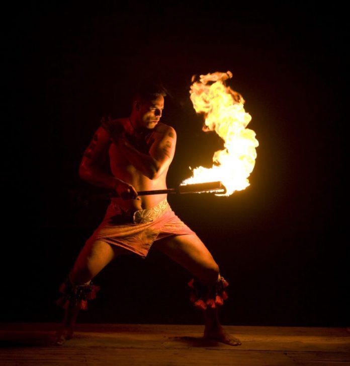 Polynesian Cultural Center fire dancing.