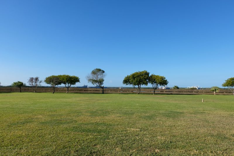 The Best Lookout For Pearl Harbor Ships Is At Leeward Community College - The main lawn with a fantastic lookout.
